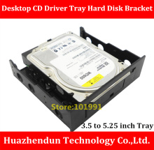 New Arrivals 3.5 to 5.25 Desktop CD Driver Tray Hard Disk Bracket SSD and HDD Conversion Bracket Giving away screws(China)