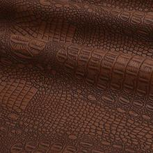 Half Meter Thick Synthetic Crocodile Eco Leather Vinyl Seat Fabric Textiles For Furniture Bag Krokodil Leder Tecido Automotivo(China)