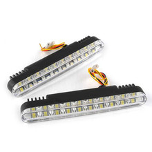 5W DC12V Auto Car 30 LED Fog Lights Daytime Running Lamp Turn Signal Light DRL White DIY Amber Super Bright