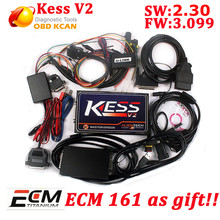 New kess V2 v3.099 kess v2.30 unlimited Manager chip Tuning Kit Master version Auto ECU with free ECM titanium software(China)