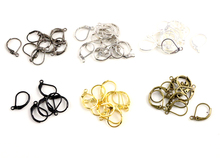 15*10mm 50pcs High Quality 6 Colors Plated Brass French Earring Hooks Wire Settings Base Settings Whole Sale(China)