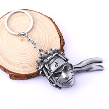 Hot 2 colors  anime Naruto keychain Naruto head metal keychain key holder  For Men's Gifts Fashion Jewelry  wholesale&retail