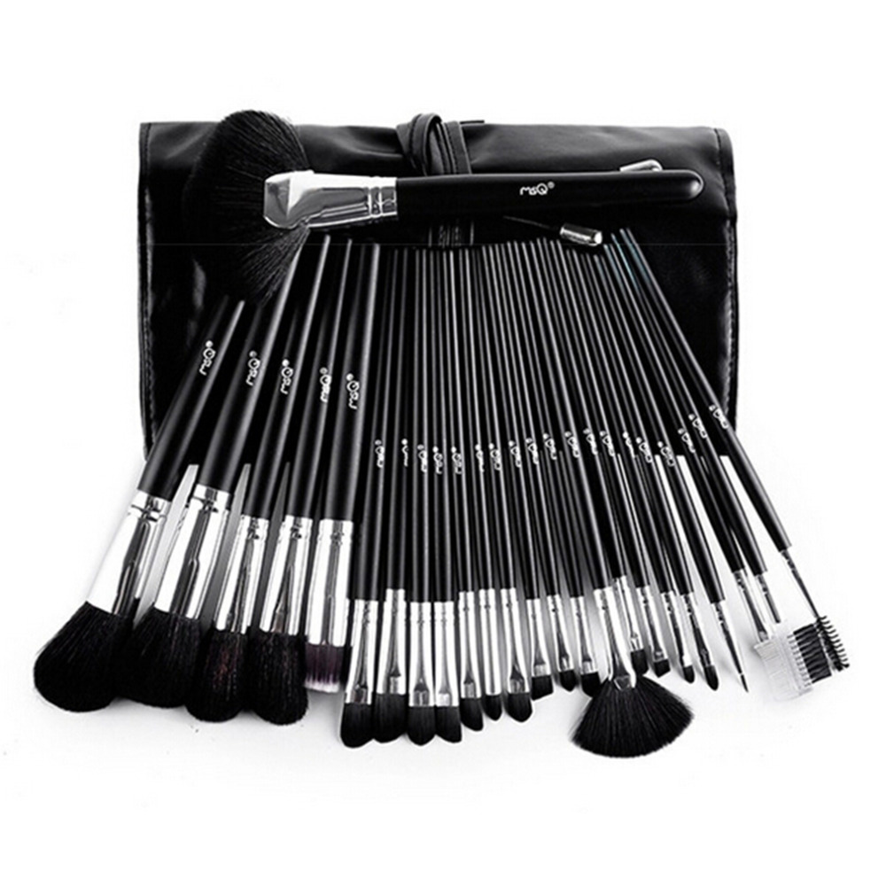 New Hot! 25Pcs Makeup Brush Oval Cosmetic Brush Set Multipurpose Professional Foundation Powder Brush Kits with PU Leather Bag<br>