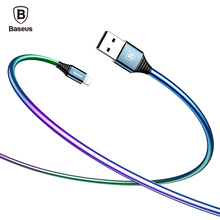 Baseus Plating USB Cable For iPhone 7 6 6s 5 5s se iPad Air Mini Gradient Color Data Cable 2A Fast Charging Charger Wire Cord