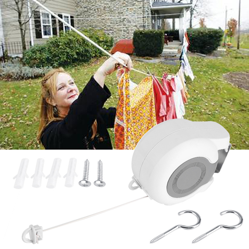Mayitr 1 set 13M Travel Home Portable Retractable Clothesline Socks Underwear Clothes Hanger Elastic Washing Line