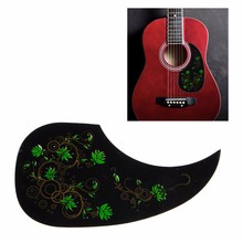Hot Sell Celluloid Pickguard Scratch Plate For Acoustic Guitar Self Adhesive Green Flower