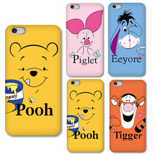 0656 Cartone animato Winnie Pooh cell phone bags case cover for iphone 4S 5S 5C SE 6S 7 PLUS Samsung S3 S4 S5 IPOD Touch 4 5