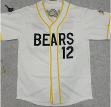 Mounttop Baseball Jersey Bad News Bears #12 Baseball Jersey Stitched Numbers Cheap Throwback Hotsale Movie Jerseys free shpping