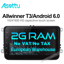 UA EU warehouse Android 6.0 car dvd gps radio videoplayer car stereo for VW skoda yeti superb rapid fabia octavia roomster 2 din