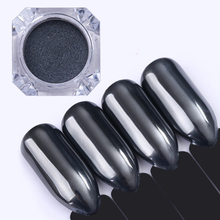 BORN PRETTY 0.5g Black Mirror Nail Glitter Powder Dazzling Chrome Pigment Dust for DIY Nail Art Decorations Manicure Black Base(China)