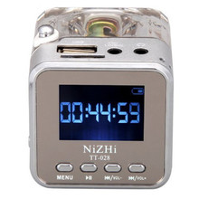 Portable Mini Speaker Digital Music FM Radio MP3/4 Player USB Disk Support Micro SD/TF Card Crystal Screen display Radio