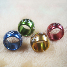 Wholesale 8 , 10 mm Bird Dove Pigeon lantern Circular aluminum Leg closed Strong Rings Custom aluminum Lettering Rings