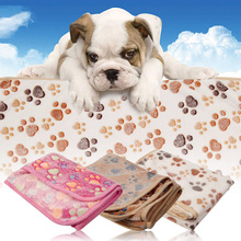Pet Kennel Mat Dog Cat Blanket Thermal Warm Fleece Dog Blanket Quilt Footprint Air Conditioning Blanket 76*53CM(China)