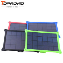 Portable Outdoor 5w Solar Panel Power Charge External Battery Mobile Charger Backup For All Smart Phones PDA MP3/4 Camera etc(China)