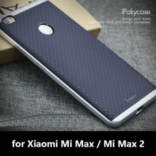 iPaky Brand Case For Xiaomi Mi Max Shock-Absorption Armor Rubber Silicone Back Cover with PC Frame Mi Max 2 Soft Phone Shell