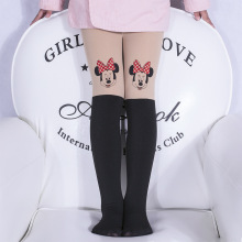 New Design Hot Sales 1 Piece Girls Tights Lovely Hello Kitty Bunny Velvet Stockings for Girls Cartoon Patchwork Kids Tights(China)