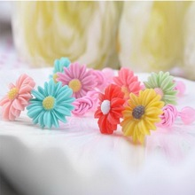 New Children's Baby Daisy Headdress Sun Flower Hair Ring Bands Tiara Princess Hair Ropes For Children Acessorio De Cabelo T