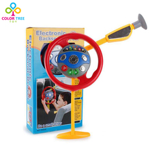 Creative Toys Simulation Children Steering Wheel With Light Music Kids Electronic Backseat Driver Kids Educational Toys