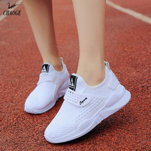 2017 autumn new comfortable light shallow mouth mesh running shoes with large size women's wild small white shoes free shipping6