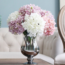 1 Bouquet Artificial Hydrangea Flower Bunch Wedding Party Floral Decor Craft