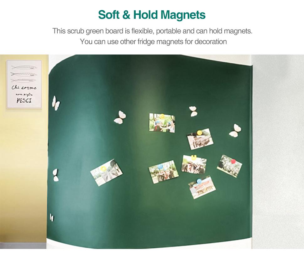 03 Wall Sticker Chalkboard flexible Chalk Board Ferrous Teaching Self-adhesive Board Green Board Color Hold Magnets Wall Decor
