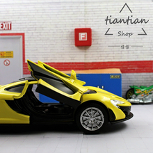 MZ 1:32 Sports car simulation McLaren Mercedes P1 Die-cast metal Alloy car model Children's toys ornaments Sound and light(China)