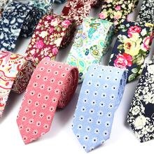 2016 New Fashion Ties for Men 100% Cotton Tie Floral Printing Classic Mens Necktie Business Casual Vintage Gravatas Neck ties