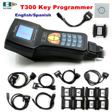 2017 High quality V16.8 T300 Key Programmer T300 support multi brand car key programming with English/Spanish DHL free shipping