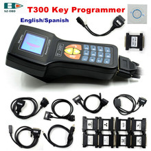 2017 High quality V16.8 T300 Key Programmer T300 support multi brand car key programming with English/Spanish DHL free shipping(China)