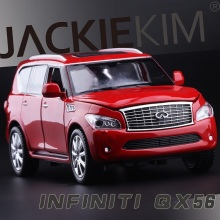 New High Simulation Exquisite Collection Baby Toys CaiPo Car Styling Infiniti QX56 Model 1:34 Alloy SUV Car Model Best Gifts