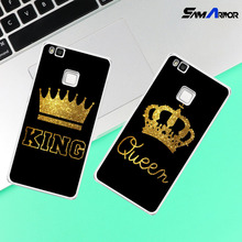 For Huawei P8 P9 P10 Lite 2017 P9 lite mini King Queen case coque Case Back cover(China)