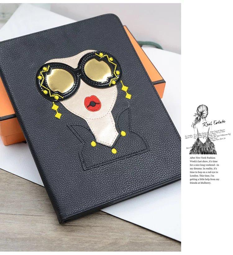 For Apple ipad Mini 4 Mini4 Tablet case Flip Cover Fashion Unique design Star Same Style Glasses Modern Ladies <br><br>Aliexpress