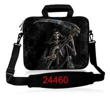 Skull 10,12,13,14,15 portable durable mesh zipper laptop notebook tablet Shoulder bag pouch case for ipad air,Amazon kindle(China)