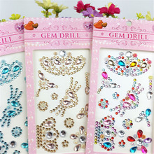 1Pcs Crystal Crown Motif Rhinestone Multicolor Stickers Phone Case Decoration Car/PC Decor Decal Scrapbooking Craft 8Z(China)