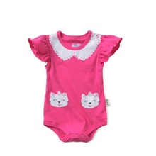 2017 new summer baby girl romper baby boys clothes hello kitty cat panda dot Strap short-sleeved one pieces Jumpsuit clothing