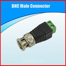 Free shipping 1PCS BNC Male Connector CAT5 To Coax Coaxial Camera CCTV BNC TV Video Balun Cable Connector Adapter