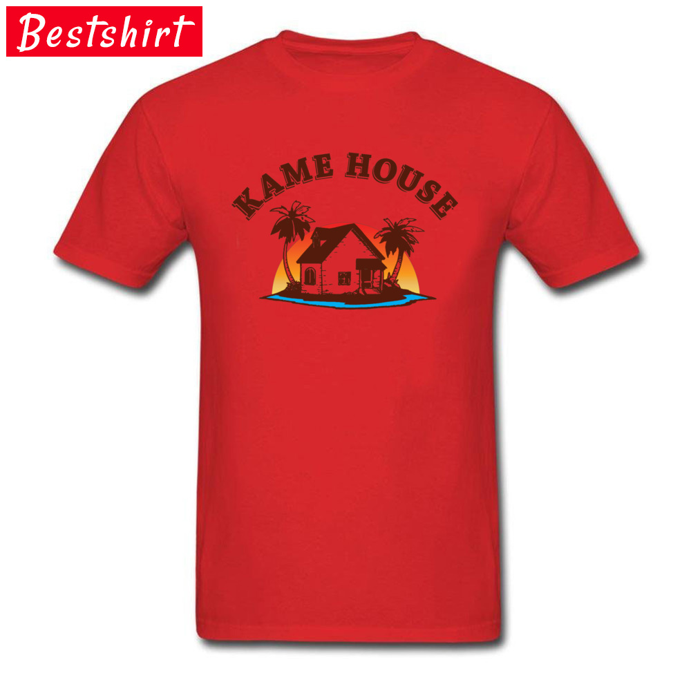 Graphic Men's T Shirt Crew Neck Short Sleeve 100% Cotton Kame House 5781 Tops Shirt Design Top T-shirts Drop Shipping Kame House 5781 red