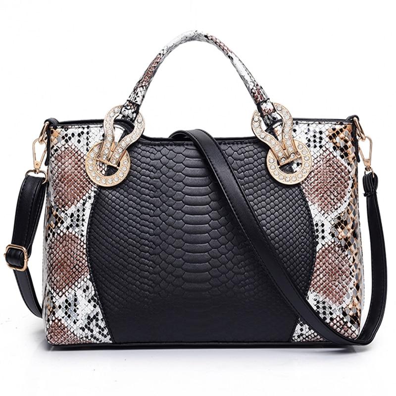 2017 Snake Skin Bags Women Handbag Luxury Serpentine PU Leather Handbags Women Hand Bags Designer Famous Brand Shoulder Bag Tote<br><br>Aliexpress