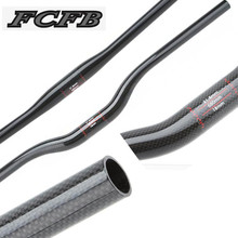 Ultralight 3K glossy Carbon handelbar Bicycle MTB Handlebar rise Mountain Bike handlebar 31.8mm 600-760mm FCFB(China)