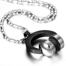 2015 New Wholesale Stainless steel Headset pendant Necklace Fashion Necklace Stainless Steel Jewelry Mens The trend of music
