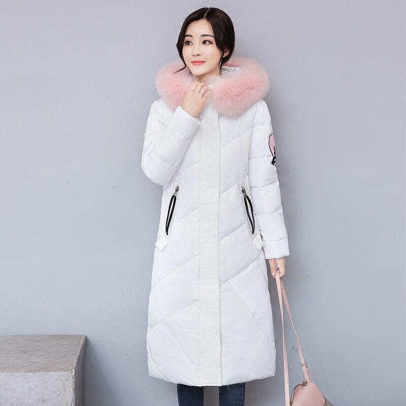 2017 Sale New Arrival Full Zipper Broadcloth Ukraine Winter Cotton Windbreaker Women Long Coat Thick Leisure Collar Warm Jacket Îäåæäà è àêñåññóàðû<br><br>