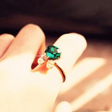 Rabbit Ring -New Style Lovely Cat Crystal Adjustable Finger Snow Bunny Rabbit Animal Ring # 1774395