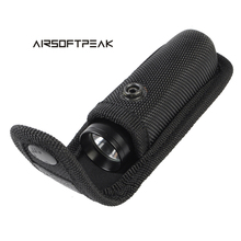 AIRSOFTPEAK Tactical Molle Flashlight Pouch Holster Torch Case Outdoor Camping Hunting Led lenser Flashlight Waist Belt Bag ~(China)
