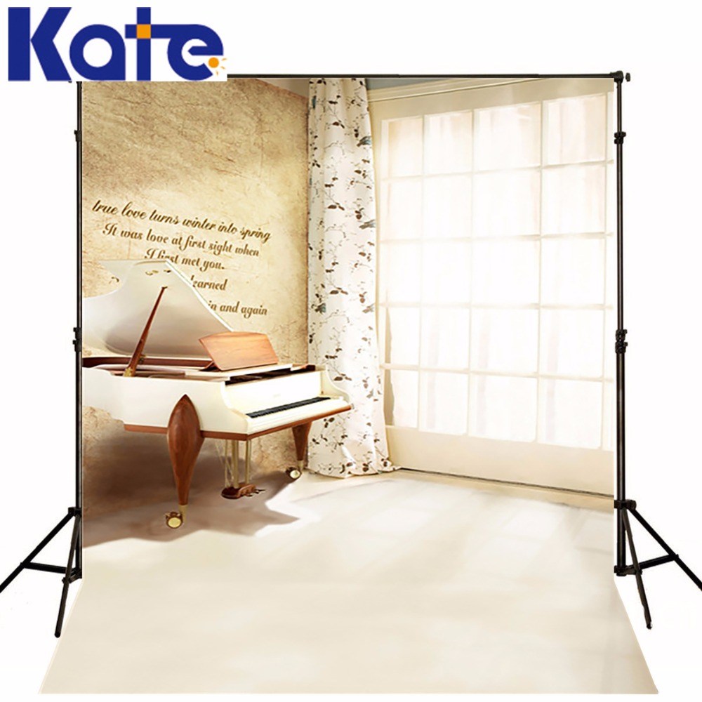 KATE Wedding Backdrops Sunshine Ceiling Windows Valentine Photo Backdrop Piano In The Window  Backdrops For Photography Wedding<br>
