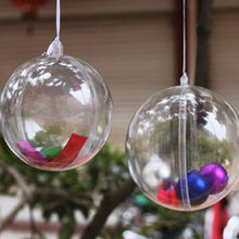 New 8cm Christmas Decoration Hanging Ball Baubles Round Bauble Ornament Xmas Tree Home Decor Christmas Baubles Xmas #1874(China)
