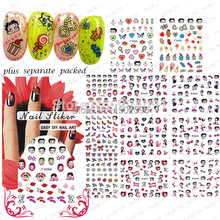NEW 20sheet/LOT 3D Betty Cartoon NAIL sticker design,Patch Cartoon Serie For Fingernail Desgin&decoration Individually package