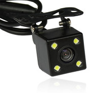 Waterproof 4 LED Night Vision Car CCD Rear View Camera Parking Assistance Camera For Android DVD Monitor(China)