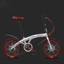 "20"" 6 Speed Fast Folding Bike, Lightweight Road Bike, Portable Bicycle for Men & Women, Aluminum Alloy Frame, Disc Brake,(China)"