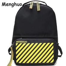 Menghuo 2018 Women Backpack College School Bag Girls Boys 2pcs Laptop Backpack Sets 4 Pockets Teenagers Mochila Feminine
