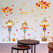 Wall stick a scarecrow Children room sitting room the bedroom the head of a bed the kindergarten classroom cartoon stickers